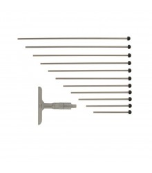 Micrômetro de Profundidade Analógico (Com Hastes Intercambiáveis 4 Peças) 0-100mm/0,01mm – 129-115