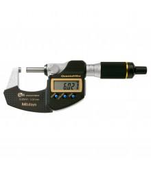 Micrômetro Externo Digital  0-25mm  0,001mm  QuantuMike  Com Saída de Dados e Avanço Rápido  293-140-30