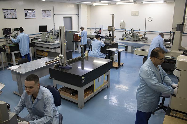 Laboratório de Calibração localizado na fábrica de Suzano - SP